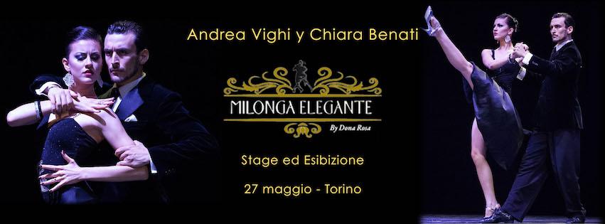 Stage ed Esibizione a Torino evento Andrea Vighi y Chiara Benati